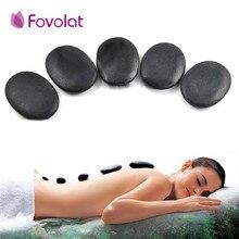 12 PCS 3*4 cm Lava Natural Energy Massage Stone Volcanic Hot Stone SPA Beauty Oi