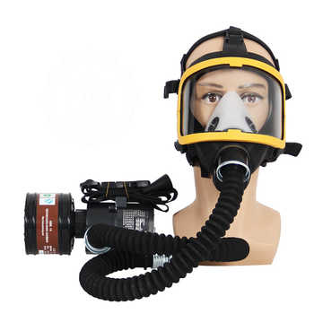 Electric Constant Flow Supplied Air Fed Full Face Respirator Gas Mask Blower/Breathing tube/charger/filter/belt Combined Gas Mas - DISCOUNT ITEM  18% OFF All Category