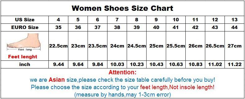 women shoes size chart 12.4