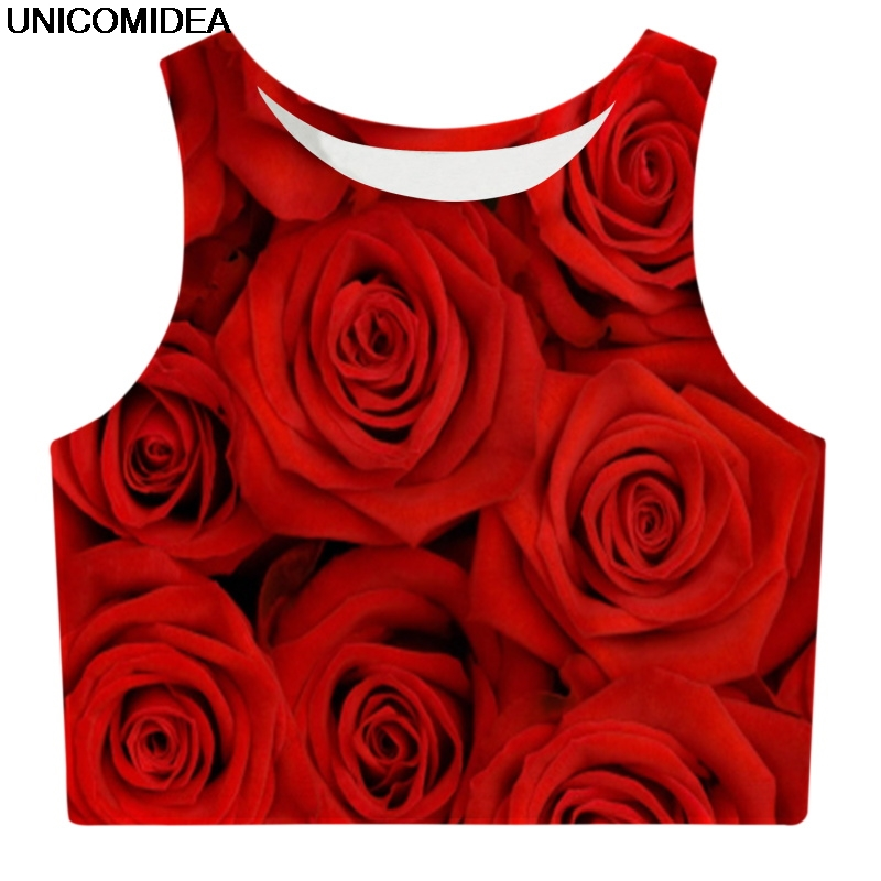2019 Sexy Flamingos Crop Top Women Girls Tank Tops T Shirt Vest Print Rose Cropped Female Fitness Chest Hair Short Camis Tops