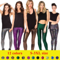 Women's Fish Scale Leggings 12 color S-3XL Size Simulation Mermaid Sexy Pants Digital Print Colorful Leggings Bottom Pants P45