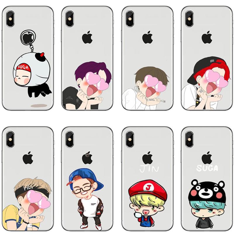 Bts Korea Bangtan Boys Young Forever Jung Kook V Spring Day Phone Case For Iphone 6 6s 7 8 Plus 5s 5 Se X 10 Soft Silicone Cover Latest Fashion Cellphones & Telecommunications Fitted Cases