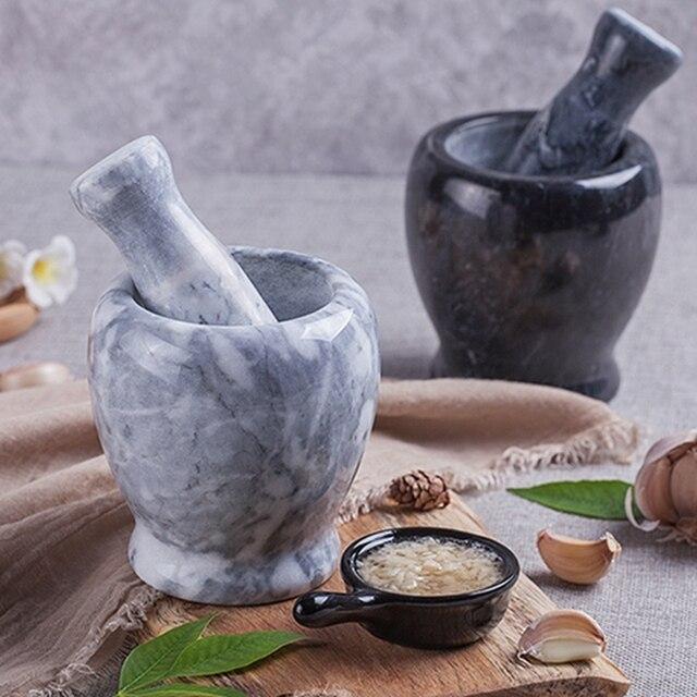 الإبداعية الحجر الطبيعي هراسة الثوم كسارة الهريس هاون مدقة مجموعة دليل الأعشاب مطحنة المطبخ المروحية الحبوب التوابل الفلفل جيندر
