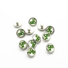 Clearance Sale 20pcs/lot 12mm Glass Snap Buttons Fit  DIY Bracelet Button Charms Jewelry