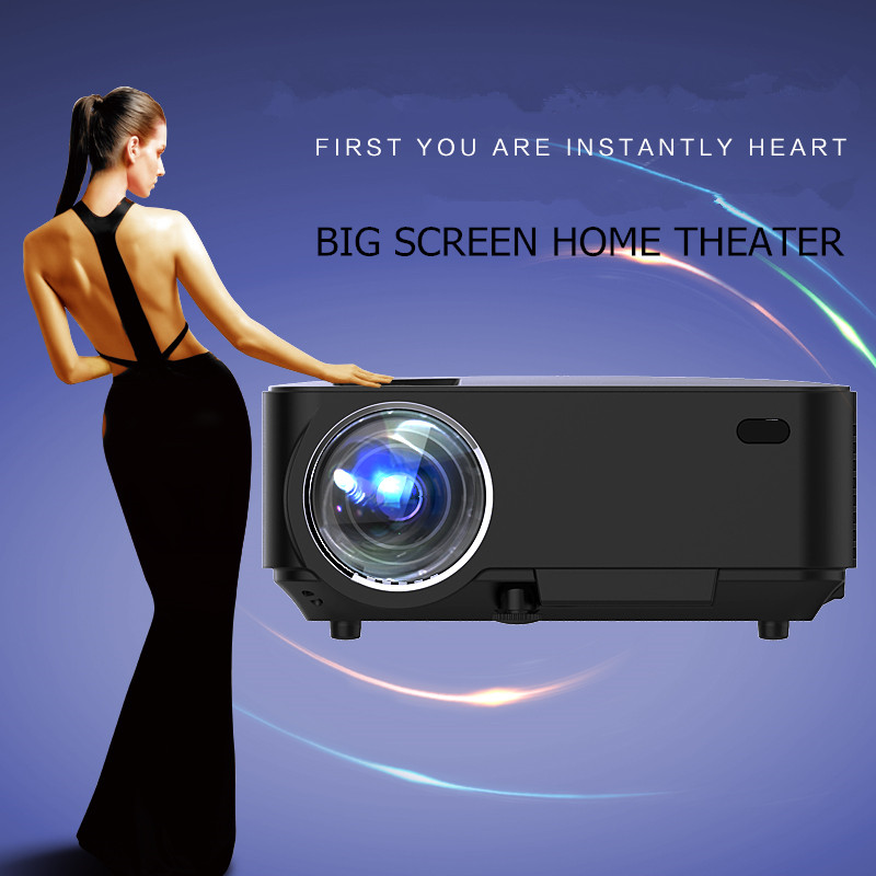 "7500lm Hd Home Theater Multimedia Lcd Led Projector 1080: New LCD Projector HD 150"" Multimedia LED Mini Home Theater"