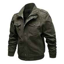 Spring Gears Air Force Pilot Military Jacket Men Cargo Tactical Bomber Jacket