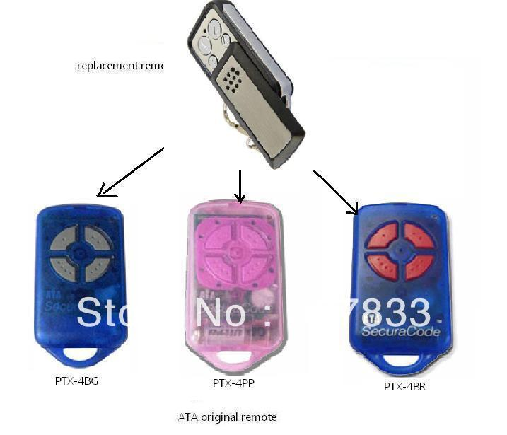slide case  ATA remote ,ATA opener,,ATA garage door remote control,ATA  transmitter remote