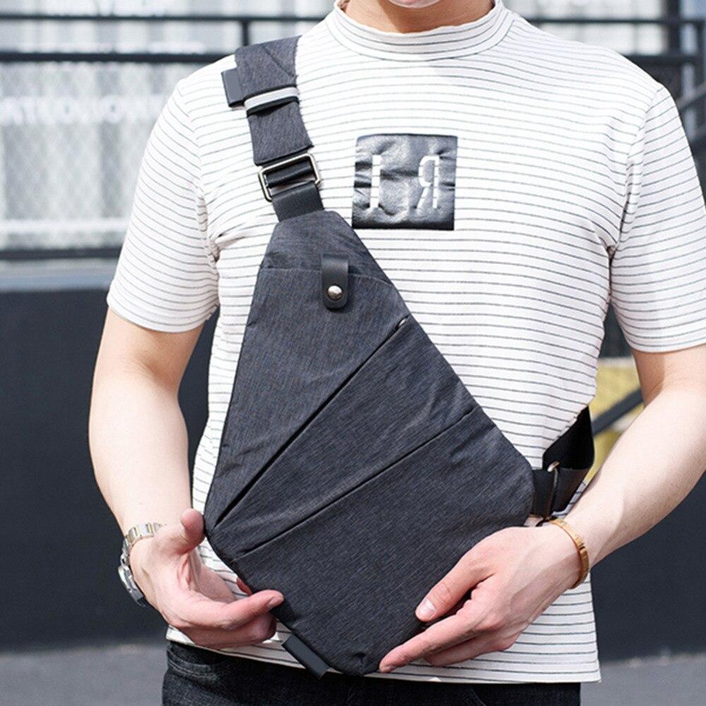 Fashion Leinwand Brust Tasche Männer Einfache Einzelnen Schulter Taschen für Männer Brust Pack Anti Theft Männliche Umhängetasche Schwarz Telefon blosas