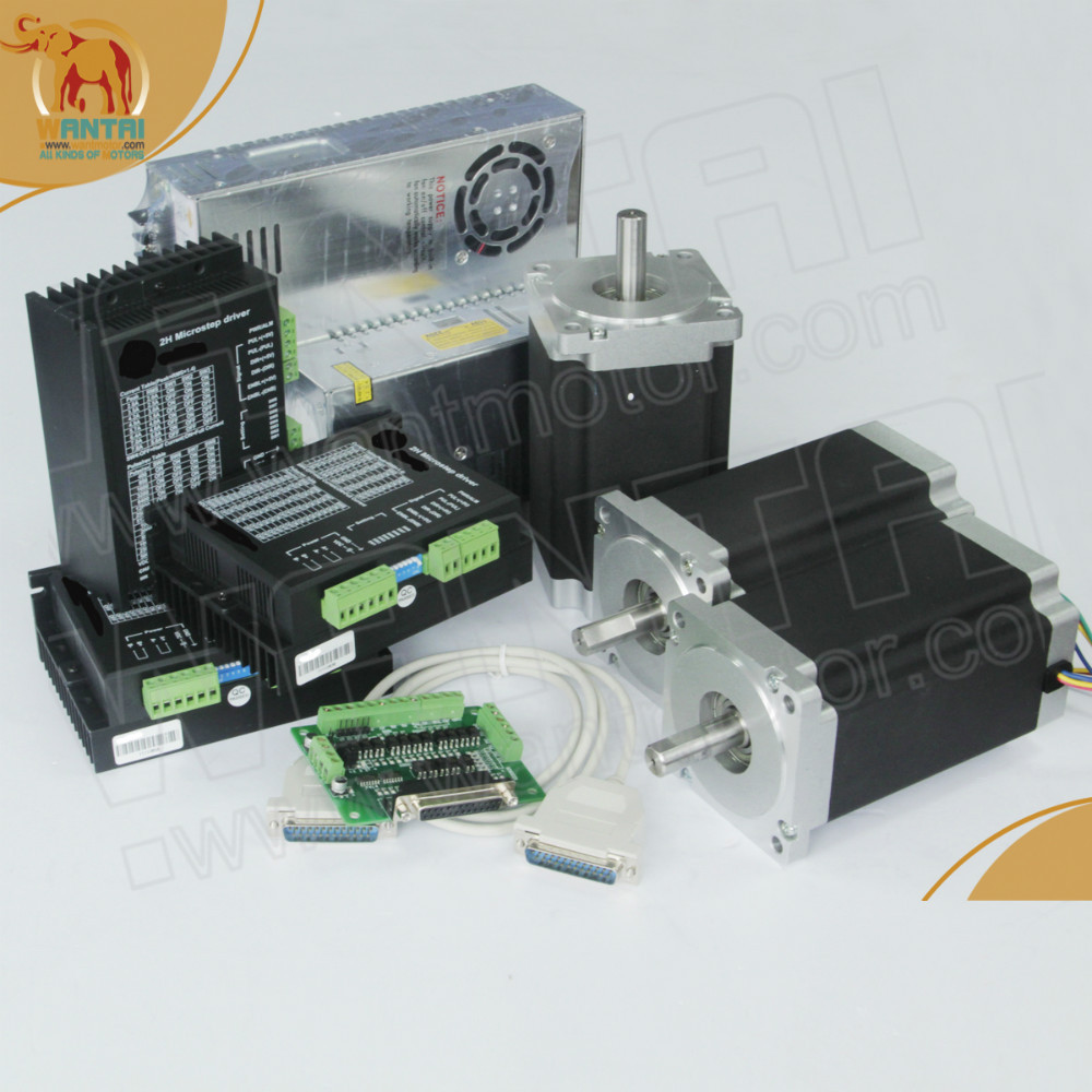 цена на (USA Ship & Free Ship to USA) High 3 Axis nema 34 stepper motor 151mm,3.5A,1600oz-in & Wantai driver DQ860MA CNC Foam Mill KIT
