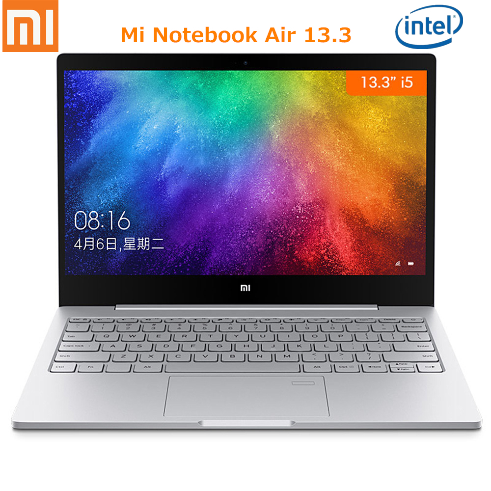 Xiaomi Mi Notebook Air 13.3 Win 10 Intel I7 I5 Dual Core 2.5GHz 8G 256GB SSD Fingerprint Sensor Dual WiFi Type-C Chinese