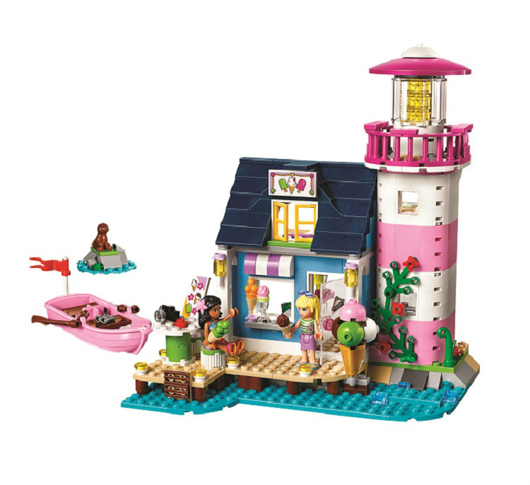 BELA Friends Series Heartlake Lighthouse Building Blocks Classic For Girl Kids Model Toys Marvel Compatible Lepine education toy new bela friends series girls princess jasmine exotic palacepanorama minifigures building blocks girl toys