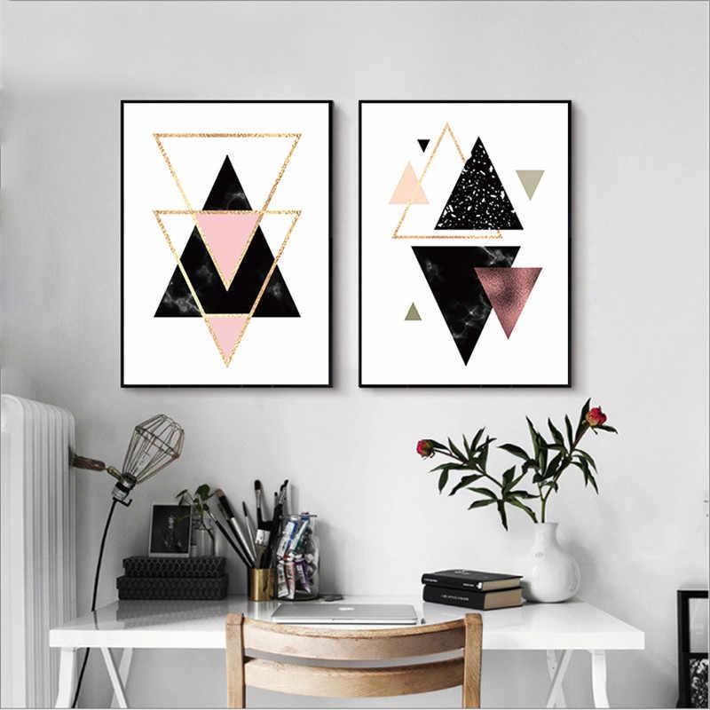 Decorazione Geometrica di Arte Della Parete della Tela di Canapa Pittura Poster e Stampe Su Tela di Arte Della Parete Immagini Senza Cornice Del Partito Della Decorazione di Diy