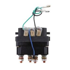 Image 5 - 12 فولت مختومة الإلكترونية ونش التتابع قواطع الملف اللولبي العالمي جزء ل ATV UTV شاحنة السيارات السيارات الأسود 80 مللي متر * 7.5 مللي متر * 40.5 مللي متر