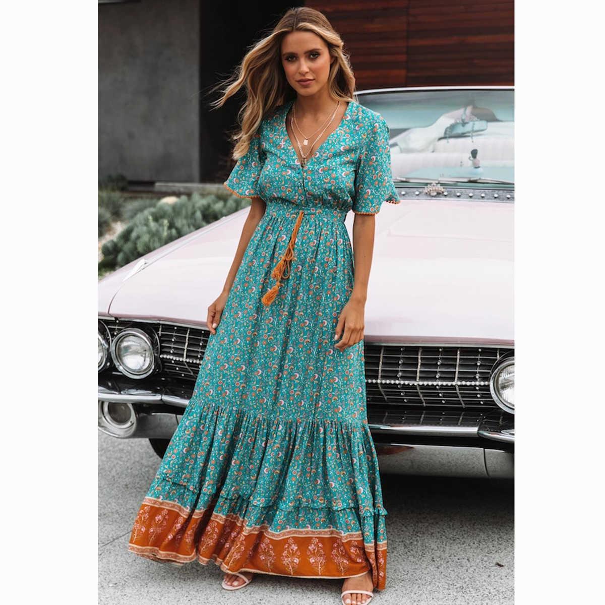 644d7d2fd7814 Detail Feedback Questions about Frieda Retro Chic Maxi Dress Women ...