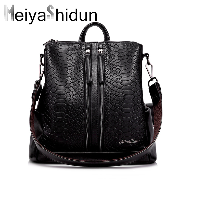 Designer women bag genuine leather backpack women Shoulder Bag Female Bagpack sac School Bags for Girls mochila escolar feminina