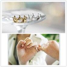 Jednoduchý prsten pro ženy ve tvaru korunky
