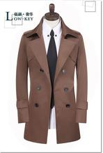 Brown england spring double breasted trench coat men slim fit medium-long clothes man mens overcoat veste homme big size S- 9XL james brown james brown it s a man s man s man s world