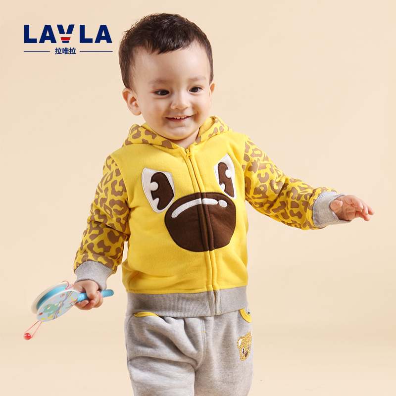 Lavla Spring Autumn Children clothing set baby boys thicken clothes kids girls cartoon coat hoodie pants outerwear plus velvet 2016 new winter spring autumn girls kids boys bunnies patch cotton sweater comfortable cute baby clothes children clothing