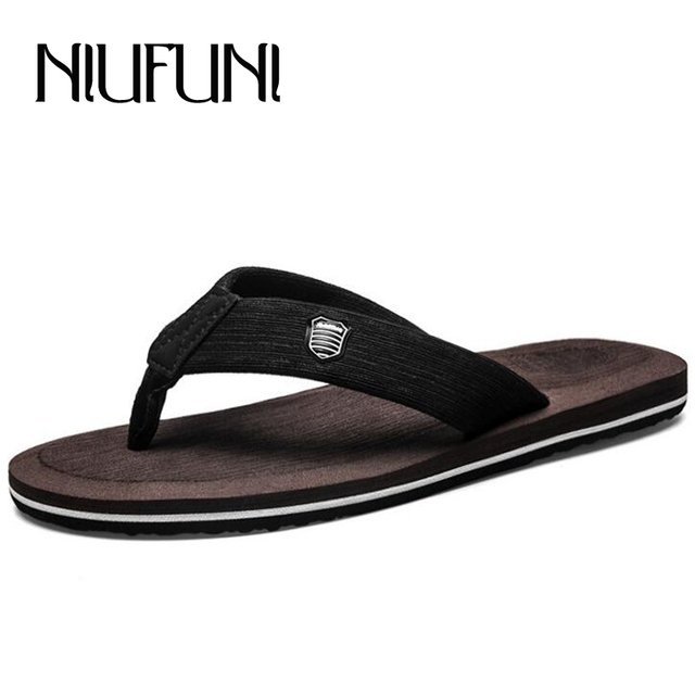 f584bea0cd24f3 2018 Simple Men s Beach Shoes Summer 5 Colors Casual Non-Slip Males Slippers  Plus Size 38-48 Comfortable Man s Flip Flops