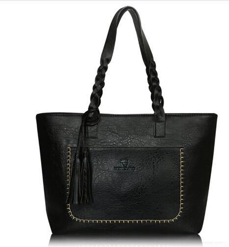 Vintage PU Leather Handbag for Women