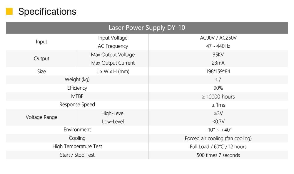 אספקת לייזר W1/Z1/S1 חיתוך 2