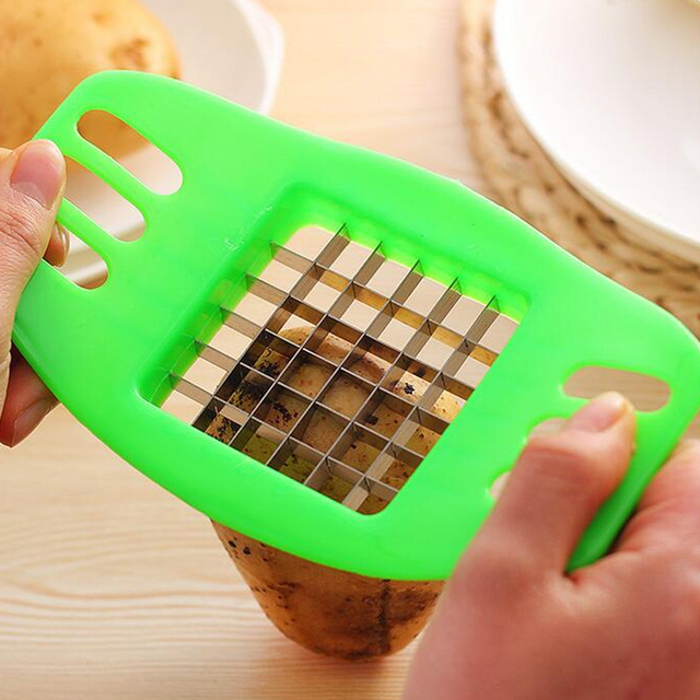 1Pcs Potato Slicer Stainless Steel Vegetable Square Manual Slicer Fries Fruit Chopper Home Kitchen Gadget Accessories Hot New 3