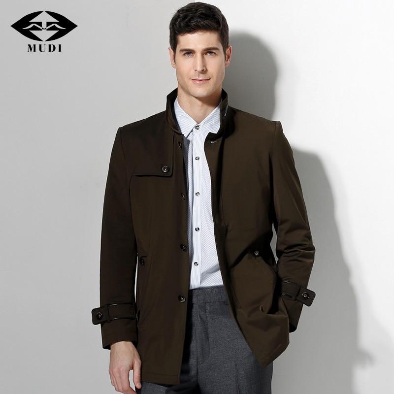 Mudi Trench Coat Men Mid Long Upscale Windbreaker New Fashion