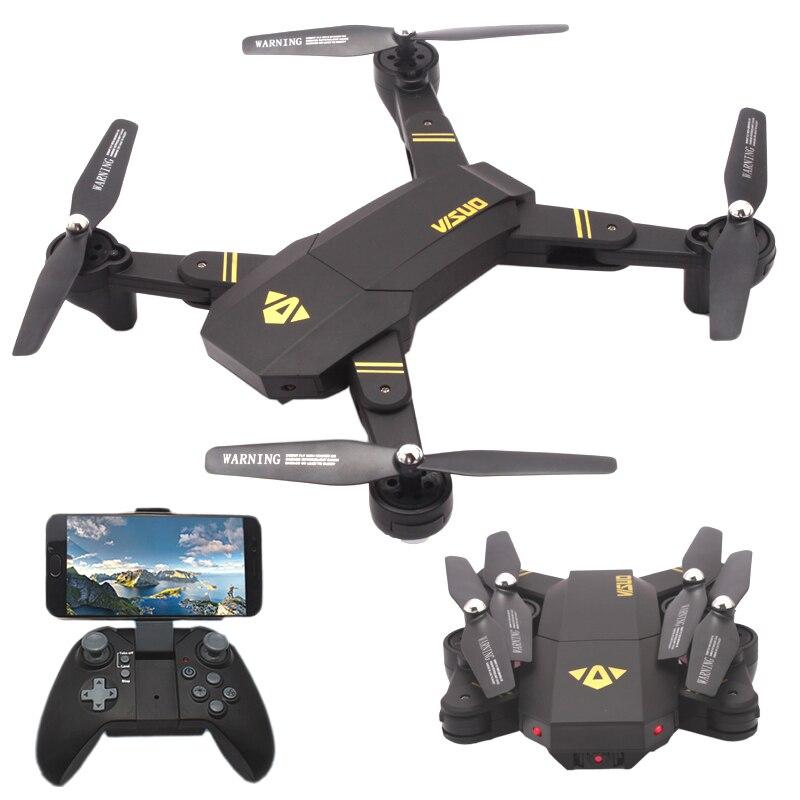 Elfie Drone Visuo XS809HW Pieghevole Droni con la Macchina Fotografica HD 2MP Selfie Dron Quadcopter XS809 Elicotteri Rc VS JJRC H37 Bambino Elfie