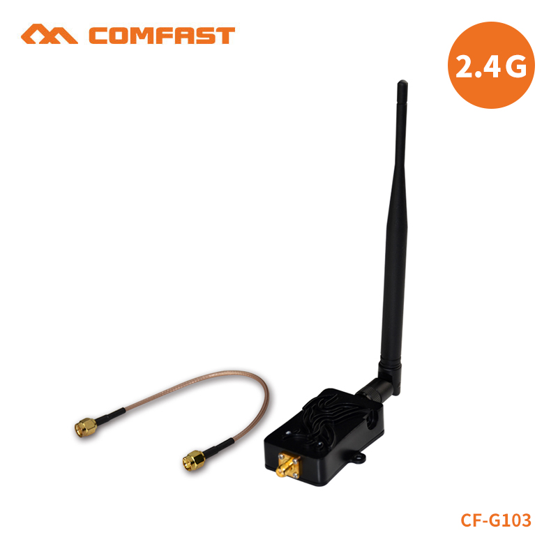 2PCS/LOT 4W Wireless Broadband Amplifiers CF-G103 wt3020f amplificador WiFi Signal Booster for wireless wifi router wifi adapter