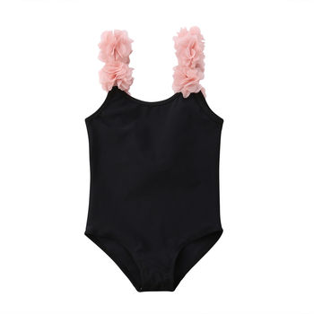Baby girl clothes children's swimsuit Kids Girls Baby Swimsuit Backless Halter Swimwear Summer Beachwear Outfits 2-7Y фото