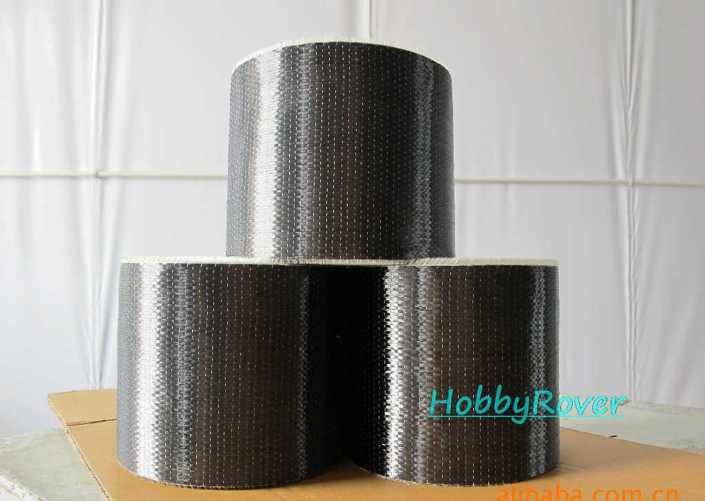 "[Grade A 4.2Gpa] 4""/10cm width T700 300gsm Carbon Fiber 12k UD Uni-directional Cloth Fabric Tap High strength Repair material"