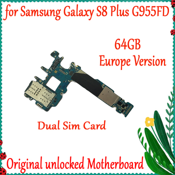 With Android System MainBoard 64GB Factory Unlocked For Samsung Galaxy S8 Plus G955FD Original Motherboard Logic Board+Chips