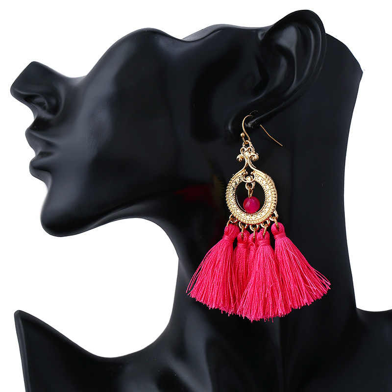 2018 Mới thời trang Dài Tua Bông Tai Thả boho Bohemia phong cách rìa rìa bông tai Thời Trang mặt dây chuyền Bông Tai Cho Phụ Nữ Đồ Trang Sức f0659
