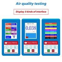 HCHO PM1.0 PM2.5 PM10 Detecor Formaldeyde Gas Analyzer TVOC Particles Detector PM 2.5 PM 10 Tester Air Quality Meter