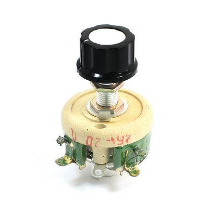 25W 20 Ohm Ceramic Potentiometer Variable Taper Pot Resistor Rheostat wirewound ceramic potentiometer adjustable rheostat resistor 25w 1r 2r 5r 10r 20r 30r 50r 100r 150r 200r 300r 500r 1kr 2kr