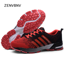 Zenvbnv Men Running Shoes Lightweight Breathable Air Mesh Sneakers Athletic Outdoor Unisex Sports Male Trainers 35-47