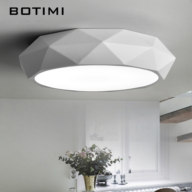 BOTIMI LED Ceiling Lights Round Metal Acrylic Lighting Lamparas de techo For Bedroom Restaurant Living Room With Dimming Remote led ceiling lights luminaria iron living lamp bedroom light lighting indoor moderne stepless dimming lamparas de techo acrylic