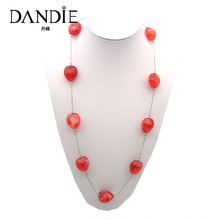 Dandie Trendy Red Acrylic Beads, Fit For Any Season