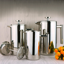 Pot French-Press Coffee-Maker Cafetiere Steel Double-Walled Insulated 304stainless Best