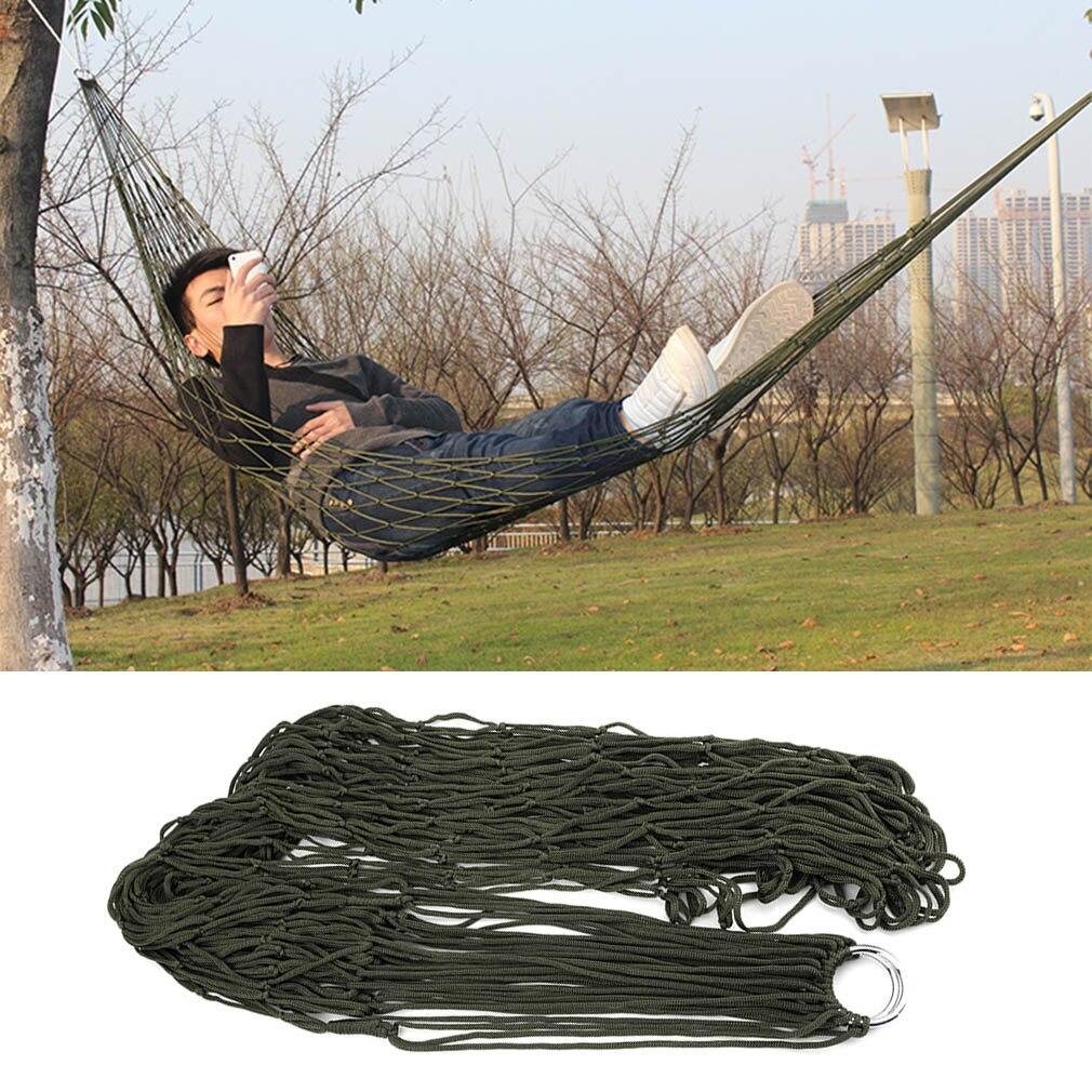 1Pc sleeping hammock hamaca hamac Portable Garden Outdoor Camping Travel furniture Mesh Hammock swing Sleeping Bed Nylon HangNet цена