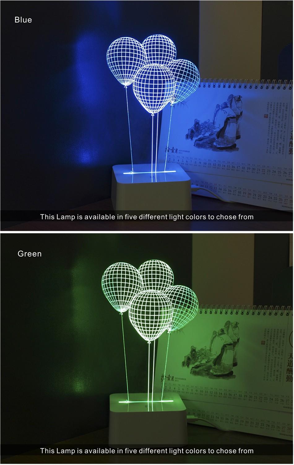 CNHIDEE Novel Fantasia Infantil 3d Balloon Table Light for Bedroom Living Room Decoration Besides Lampara Led Night Lights  (4)