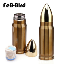 350ml new hot sale bullet shape drinking bottle for water, creative design vacuum flask made of stainless steel 2015