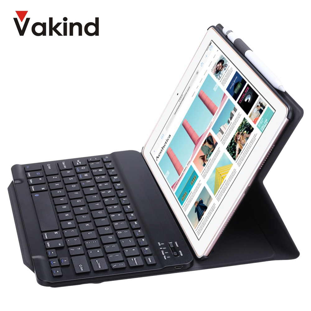 Portable Smart Flip Bluetooth 3.0 Keyboard Stand Soft Case Cover for iPad 9.7 2018 2017 Case Cover for iPad Air2 /Air1 /Pro9.7 купить в Москве 2019