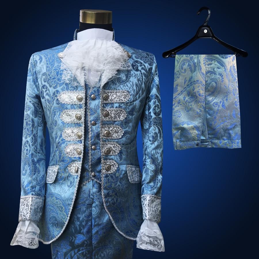 Western style wedding dress suit European opera singer stage ...