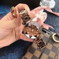 2019 Women's Watches Luxury Brand Lady Woman Quartz Starry sty Wrist Watch Women Female Steel Ladies Wristwatch Relogio Feminino