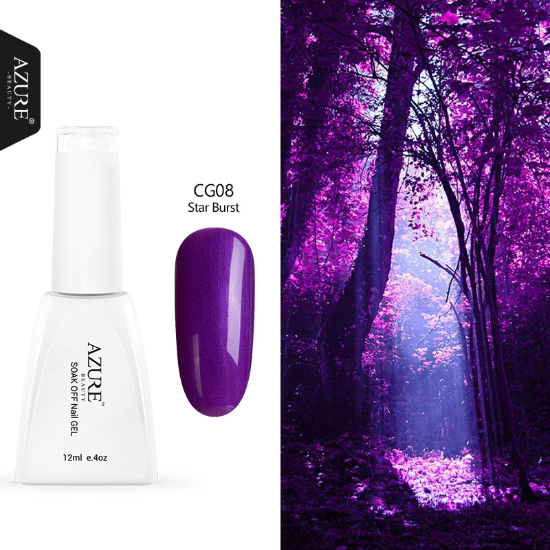 Gel Nail Polish Sale: Azure Beauty 12ML Purple Colors Nail Gel Polish Hot Sale