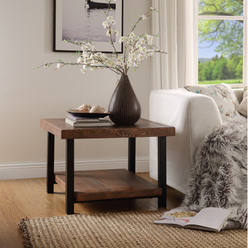 Wood Living Room Square Coffee Table