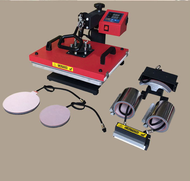 Calor camiseta máquina de la prensa 6 en 1 para las camisetas/bandejas/tapas/tazas máquina de prensa de calor camiseta