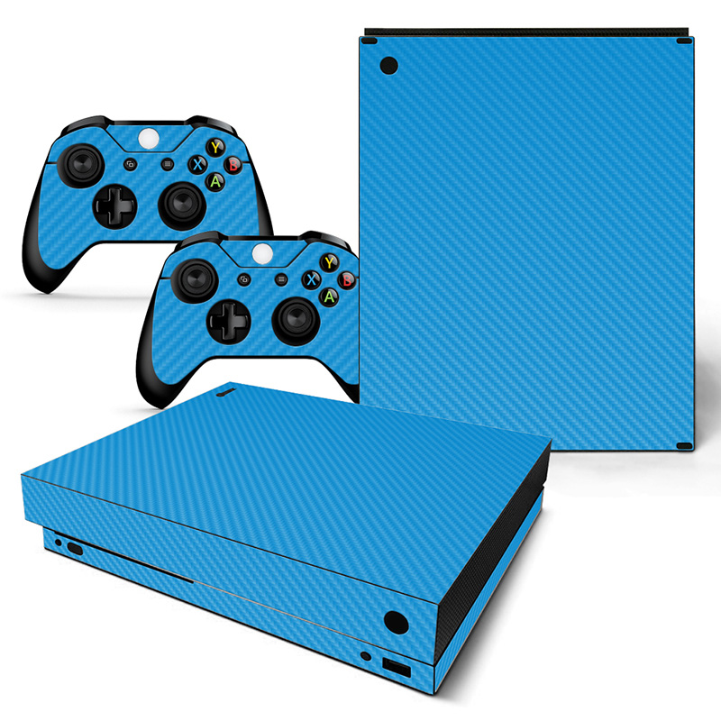 Videospiele Blau Kohlefaser Dekorative Haut Aufkleber Für Xbox One X Konsole Und Controller Heißes Verkaufseinzelteil Unterhaltungselektronik