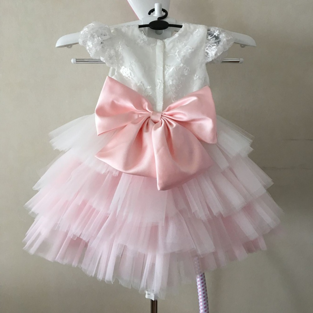 Special Design Vestidos Festa Gradual Change Pink Layers Tutu Baby